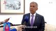 俄韃靼斯坦共和國行政長官明尼哈諾夫接受龍廣電采訪