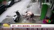 南宁:洗车工触电倒地 20秒自救脱险