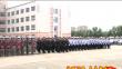 绥化市公安局举行维稳处突实战演练暨新中国成立70周年安保誓师大会