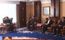 七台河市委书记杨廷双市长贾君与省体育局领导共同会见市冠军代表