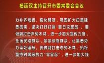 七台河市委书记杨廷双主持召开市委常委会会议