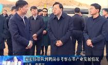 双鸭山市委书记宋宏伟带队到鹤岗市考察石墨产业发展情况