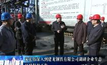 双鸭山市委书记宋宏伟深入到建龙钢铁有限公司调研企业生态环境保护工作