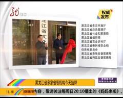 今天黑龙江省多个部门挂牌成立