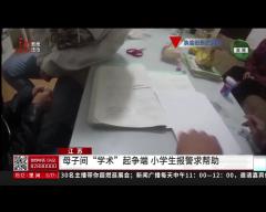 """江苏 母子间""""学术""""起争端 小学生报警求帮助"""