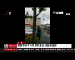 日本 袭警夺枪事件致警察重伤 嫌疑犯被逮捕