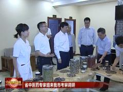 七台河:省中医药专家组来我市考察调研
