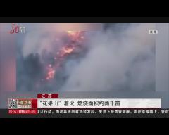 """江苏 """"花果山""""着火 燃烧面积约两千亩"""