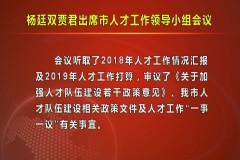 七台河市委书记杨廷双、市长贾君出席市人才工作领导小组会议