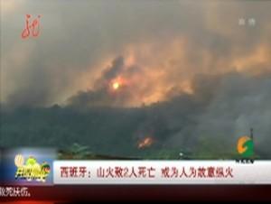西班牙:山火致2人死亡 或为人为故意纵火