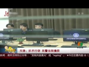 天津:扒手行窃 民警当街擒获