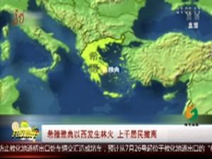 希腊雅典以西发生林火 上千居民撤离