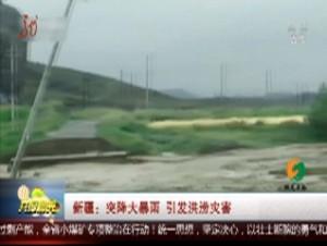新疆:突降大暴雨 引发洪涝灾害