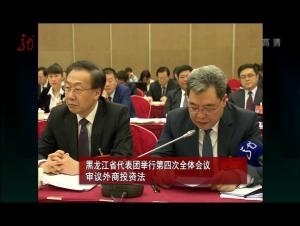 黑龙江代表团举行第四次全体会议