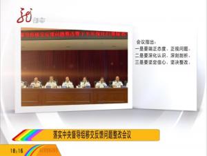 落实中央督导组移交反馈问题整改会议