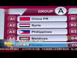 中國隊與敘利亞 菲律賓等隊同組