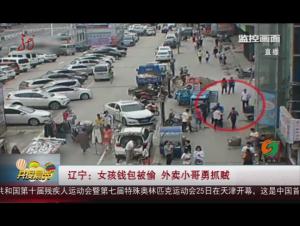 辽宁:女孩钱包被偷 外卖小哥勇抓贼