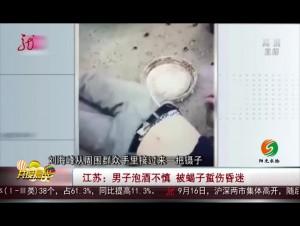 江苏:男子泡酒不慎 被蝎子蜇伤昏迷