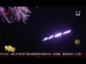 哈尔滨:沿江小树在发光 快来观赏松花江!