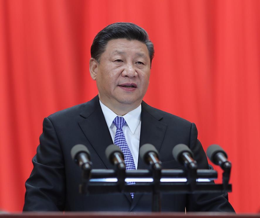 5月4日,纪念马克思诞辰200周年大会在北京人民大会堂隆重举行。中共中央总书记、国家主席、中央军委主席习近平在大会上发表重要讲话。(图片来自:新华网)