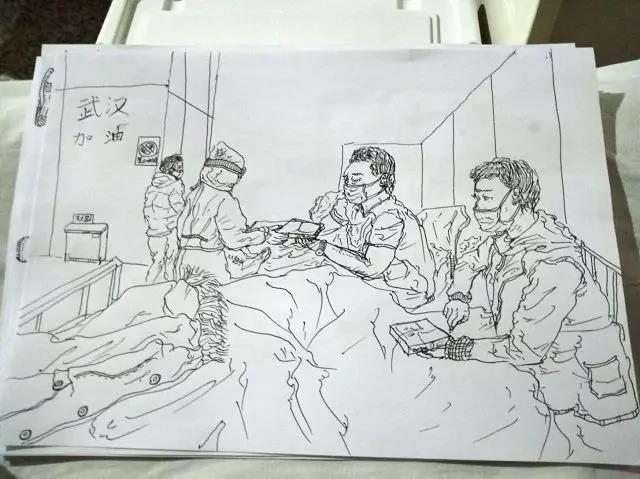 正在备战高考,却住进了方舱医院,他用画笔记录这里的温暖瞬间