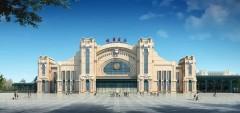"""厉害了!哈站北站房即将""""收官"""",将成世界最大新艺术运动风格公共建筑"""