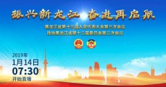 直播:黑龙江省第十三届人民代表大会第三次会议开幕会