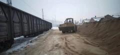 两天运送2100吨河沙  哈铁驰援省内项目建设