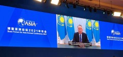 """哈萨克斯坦首任总统:""""一带一路""""倡议的生命力已得到证实"""