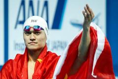 孙杨世锦赛400米自由泳三连冠  创今年最好成绩或因朴泰桓