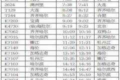 4月10日起大庆站新增大连合肥列车 附时刻表