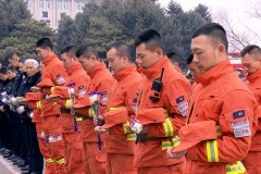 哈尔滨市森林消防支队一大队开展追思活动缅怀木里森林火灾牺牲英烈