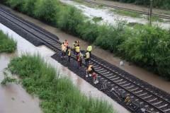 林密铁路线水害区段恢复开通