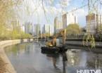 哈尔滨何家沟进行清淤行动