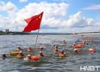 黑龙江:300名中俄游泳健儿 横渡中俄界江 (组图)