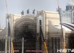 哈尔滨火车站北广场、站房建设已接近尾声(组图)