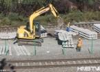 哈佳铁路哈尔滨市区段加紧建设(组图)
