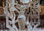 冰雕美景扮靓校园 哈工大举办首届国际大学生冰雕赛(组图)