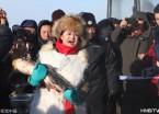 """五大连池冬捕 8万斤""""矿泉鱼""""跃冰而出(组图)"""