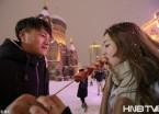 哈尔滨大雪纷扬 情侣雪中自拍秀浪漫(组图)