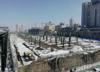 哈尔滨火车站南广场月台建设如火如荼 现场钢架林立(组图)