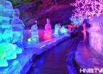 图说黑龙江:五大连池水晶宫 冰灯景观别有风味(组图)