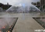 哈尔滨音乐谷喷泉试喷场面壮观 预计12日正式开放(组图)