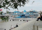 """哈尔滨:沿江18座客运码头统一换装蓝白相间""""海魂色""""(组图)"""
