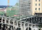 """哈尔滨站南出口月台遮雨棚开始""""封顶"""""""