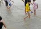 松花江水再次上涨 众多游客和市民来玩水(组图)