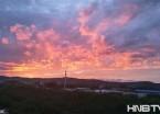 黑龙江穆棱市八面通镇火烧云壮观艳丽(组图)