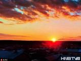 漠河:落日余晖美轮美奂