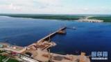 建设中的中俄黑龙江大桥
