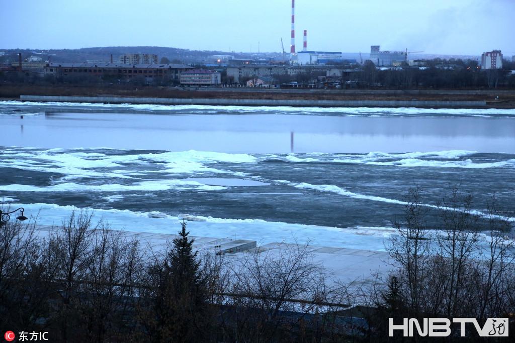 黑河江段大面积融化 即将全面开江